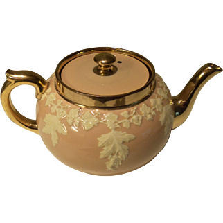 Vintage Neoclassical Gibson English Teapot 02575 Rose Pink