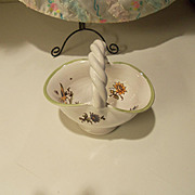 Miniature Basket Old Moustieres Decors Style Flowers FRANCE