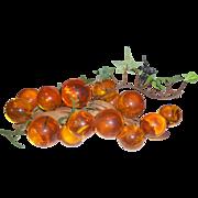 Mid Century Large Amberina Grape Cluster on Driftwood