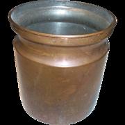 Vintage Copper Utensil Crock Holder Mid Century Style