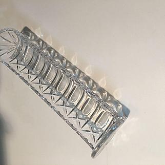 Genuine Hand Cut Lead Crystal Cracker Trough Tray West Germany