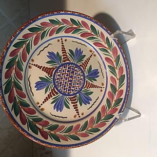 Antique HB Quimper Faience Dinner Plate FRANCE