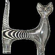 Signed Mid-Century Brazilian Lucite Cat Sculpture -Abraham Palatnik