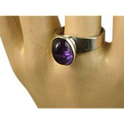 Kultaseppa Salovaara Ky Finland Vintage Sterling Silver Amethyst Ring ~ 1970s