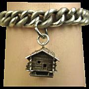 French Antique Art Nouveau Silver Charm Bracelet ~ L' Argent Francais ~ c1900
