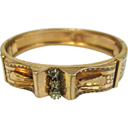 Antique French Napoleon III, Ornate Gold Fill and Paste Bracelet ~ c1860