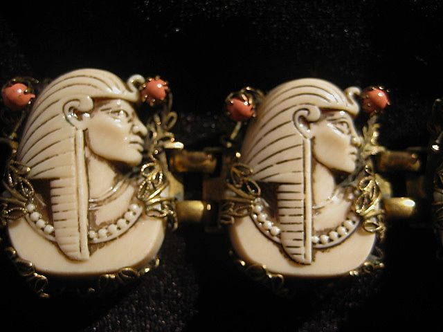 Selro Egyptian Pharaoh 1940's - 50's Bracelet ~ Super Condition
