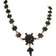 Antique Victorian Superb Bohemian Garnet Necklace ~ c1870