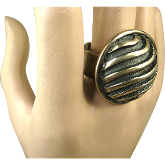Rare Uni David-Andersen Sterling Silver Modernist Ring and Earrings ~ Marianne Berg ~ 1960s