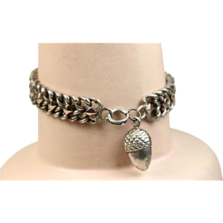 French Antique Art Nouveau Silver & Gold Bracelet ~ L' Argent et Or Francais ~ c1890