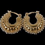 Antique Victorian 1897 Birmingham 9 Carat Gold Earrings