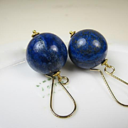 Exceptional Vintage Lapis Lazuli Large Earrings ~ c1980s