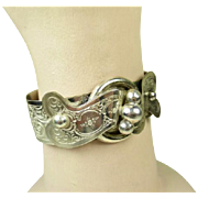 Superb Antique French Napoleon III Silver Bracelet ~ c1880