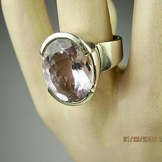 Fine Vintage Amethyst Sterling Silver Ring