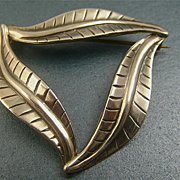 Modernist Scandinavian Danish Silver Brooch by Carl Ove Frydensberg
