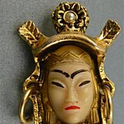 Vintage Superb Selro / Selini Asian Princess Earrings