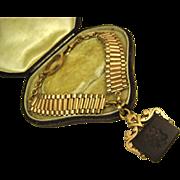 Rare Antique French Intaglio Fob Pomponne Bracelet  ~ Napoleon III ~ c1860