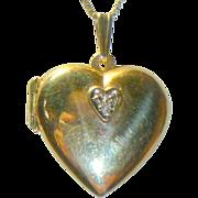Classic Heart 14K Gold & Diamond Pendant/Necklace