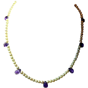 Romantic Cultured Pearl & Amethyst Necklace