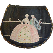 Vintage Silk Tapestry Coin & Mirror Purse