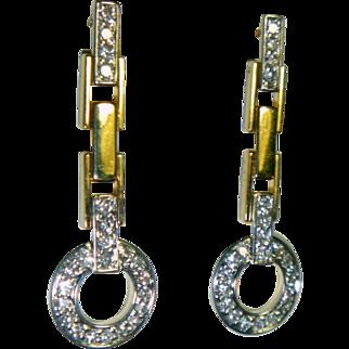 Vintage Diamond & 18K  Earrings