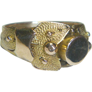 Antique Victorian 12 K Rose & Yellow Gold Signet Ring
