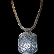 Vintage Ethnic Sterling Silver Necklace