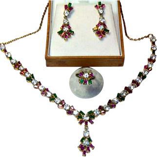Vintage Demi-parure Holiday Costume Jewelry