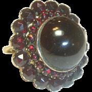 Antique Bohemian Extraordinary Garnet Ring