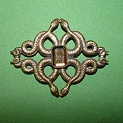 Interesting Four Serpents Brooch - Joseff Style