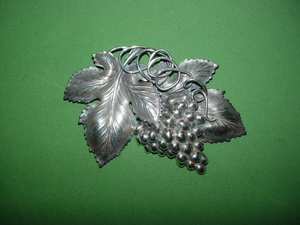 Vintage Napier Grape Brooch