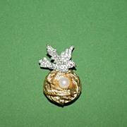 Charming Bird on a Nest Pin!