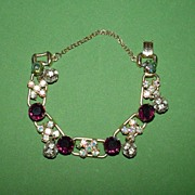 Delicate Juliana Bracelet with Rhinestone Dangles