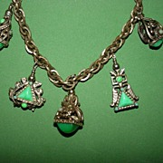 Vintage Chunky Charm Necklace