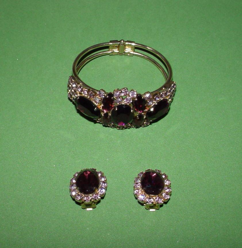 Fabulous  Purple Clamper Bracelet Set