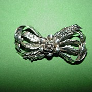 Hobe Sterling Bow Brooch