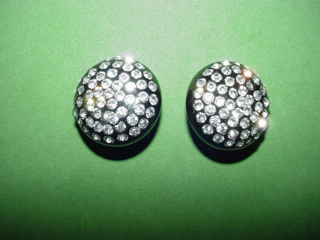 Deco Style Earrings with Rhinestones
