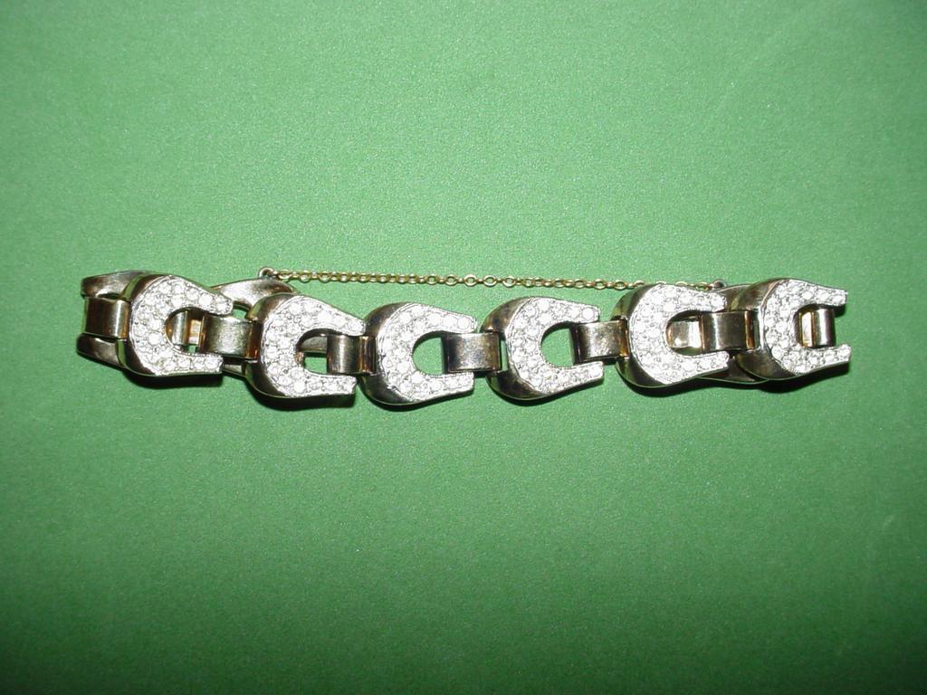 Vintage Pave Link Bracelet