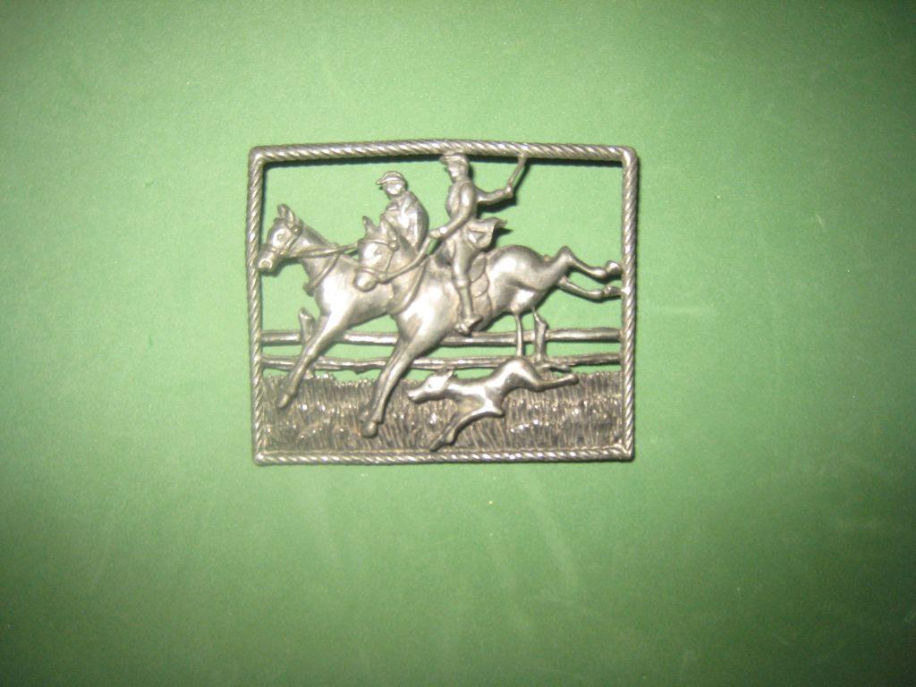 Vintage Foxhunting Brooch