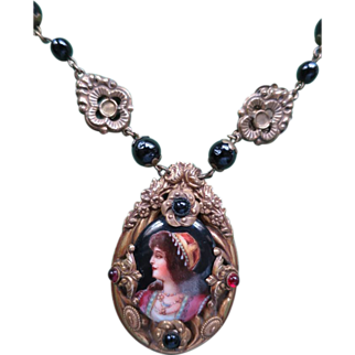 Beautiful Bohemian Portrait Necklace