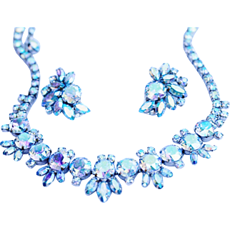 Brilliant Gustave Sherman Rhinestone Parure - TO DIE FOR!!