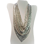 Vintage Whiting & Davis Mesh Necklace - Signed