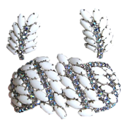 Outstanding Juliana Huge Clamper & Matching Earrings - Pristine Condition!