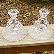 Cambridge Elaine Keyhole Candleholders Pair