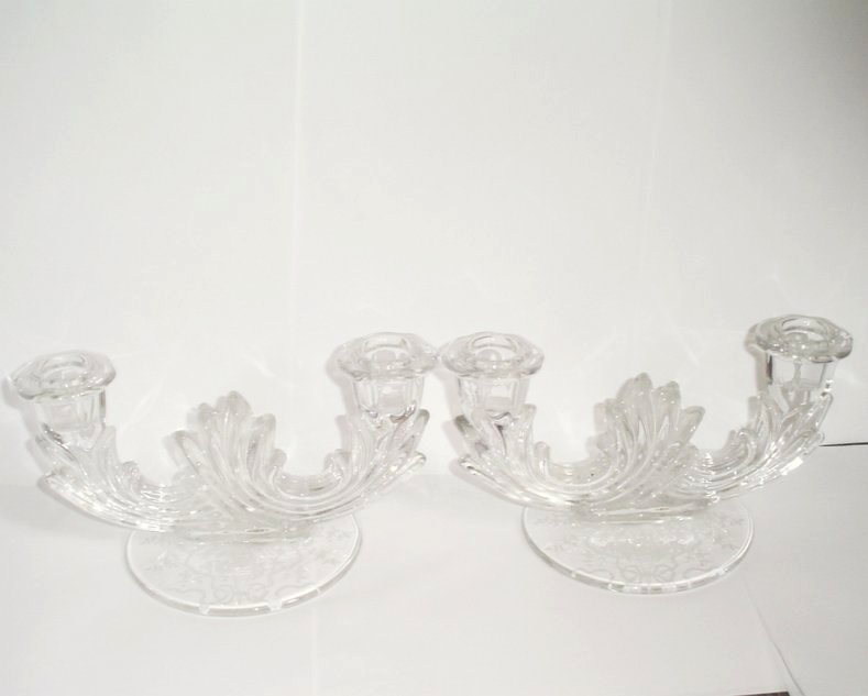 Fostoria Corsage Double Candleholders
