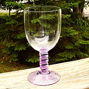 Fostoria Wisteria #6003  Set of 8 Water Goblets Art Deco
