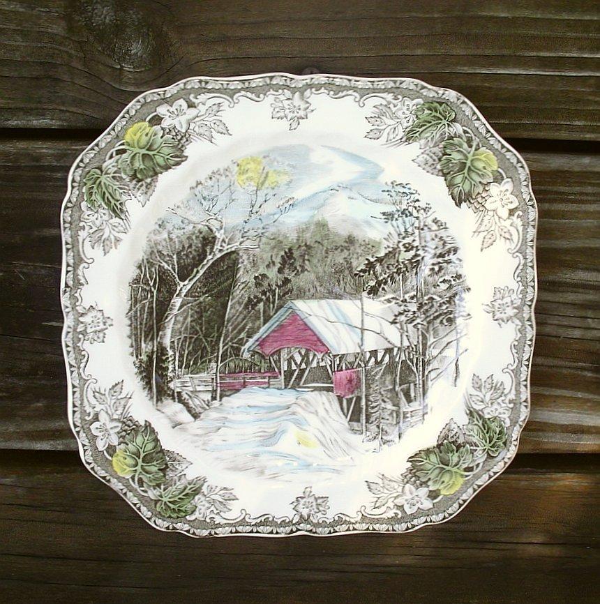 Johnson Brothers Friendly Village Snack Plates Set of 5 Scarce