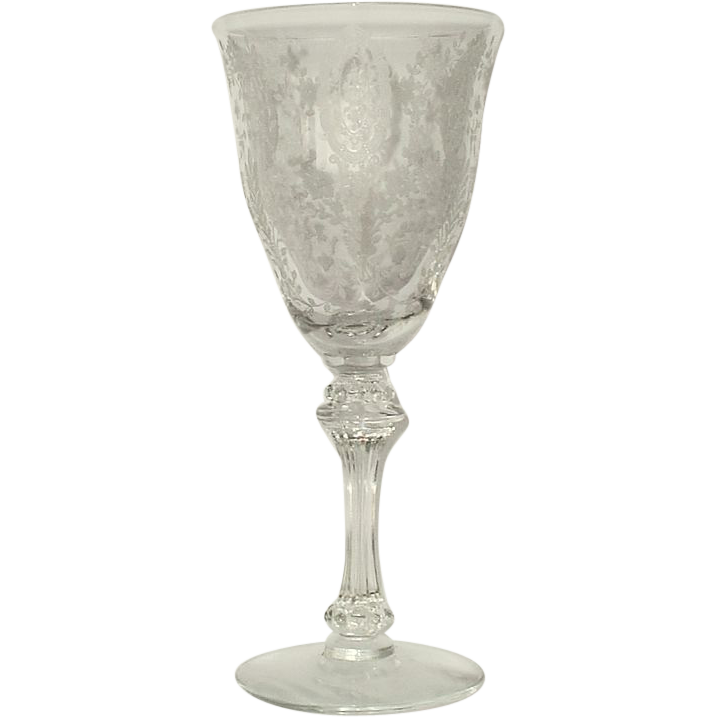 Tiffin June Night Water Goblets Set of 7