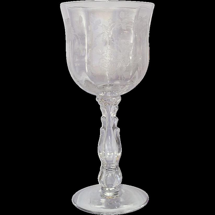 Fostoria Willowmere 10 Water Goblets Tall Stems