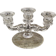 Cambridge Diane Etched Epergne Base Candleholder